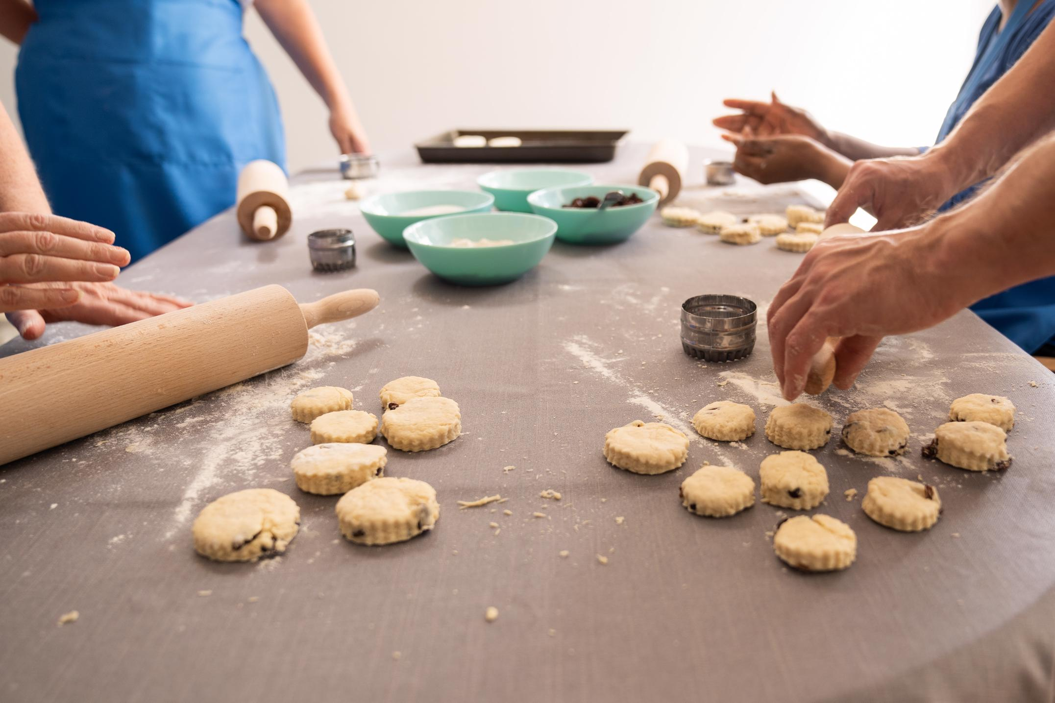 wellbeing for charities baking class London